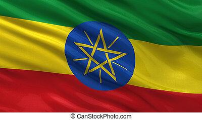flag, i, etiopien