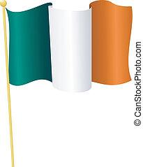 flag, i, irland, ., vektor