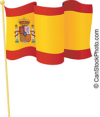 flag, i, spain., vektor