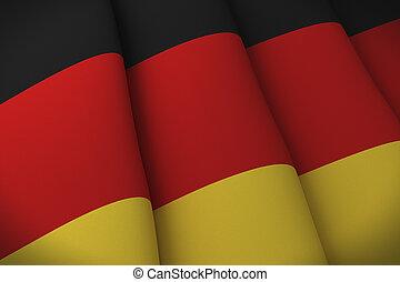 flag, i, tyskland