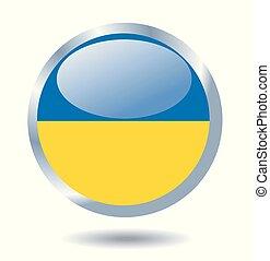 flag, i, ukraine., vektor, illustration.