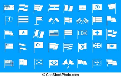 Flag icon blue set