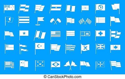 Flag icon blue set