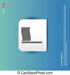 Flag icon - Blue Sticker button