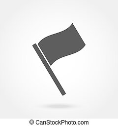 Flag icon, flat design. Vector illustration