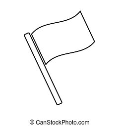 Flag icon, flat design. Vector illustration on a white...