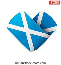 Flag icon in the form of heart. I love Scotland.