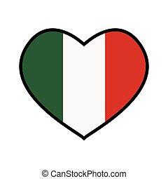 Flag icon. Italy design. Vector graphic