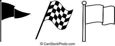 flag icon on white background