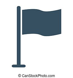 Flag icon on white background.