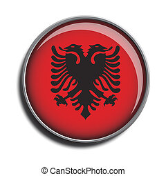 flag icon web button albania