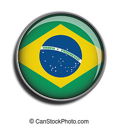 flag icon web button brazil isolated on white background