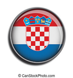 flag icon web button croatia