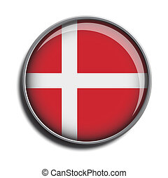 flag icon web button denmark