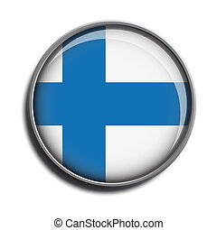 flag icon web button finland