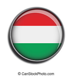 flag icon web button hungary