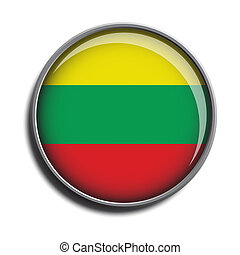 flag icon web button lithuania