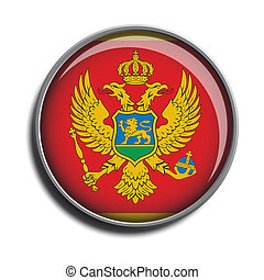 flag icon web button montenegro