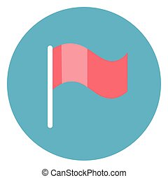 Flag Icon Web Button On Round Blue Background