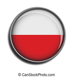flag icon web button poland