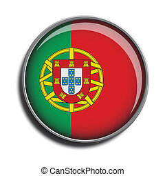 flag icon web button portugal