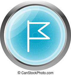 flag icon, web design element isolated on white