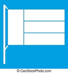 Flag icon white