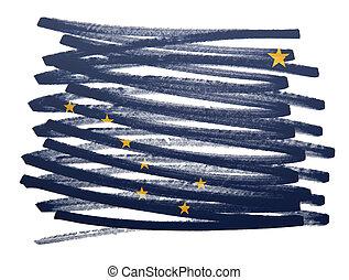 Flag illustration - Alaska