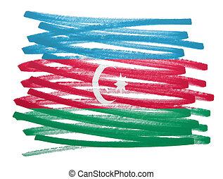 Flag illustration - Azerbaijan