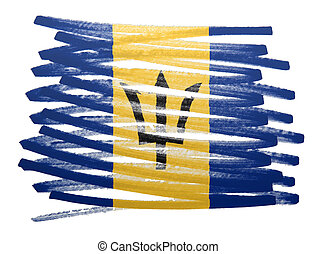 Flag illustration - Barbados