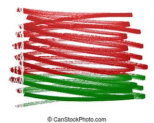 Flag illustration - Belarus