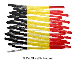 Flag illustration - Belgium