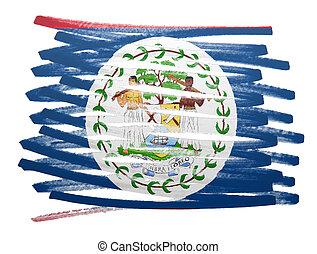 Flag illustration - Belize