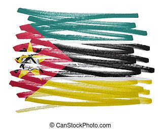 Flag illustration - Mozambique