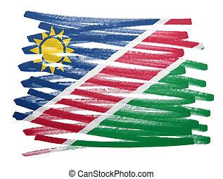 Flag illustration - Namibia