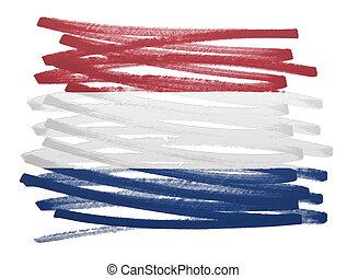 Flag illustration - Netherlands