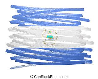 Flag illustration - Nicaragua