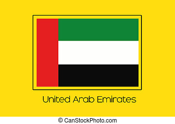 Flag Illustration of the country of United Arab Emirates