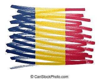 Flag illustration - Romenia
