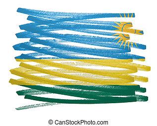 Flag illustration - Rwanda