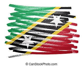 Flag illustration - Saint Kitts and Nevis