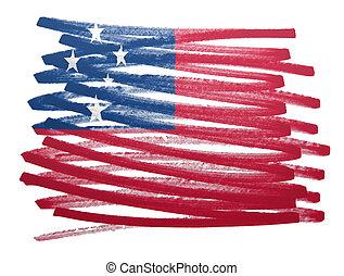 Flag illustration - Samoa