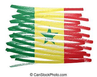 Flag illustration - Senegal