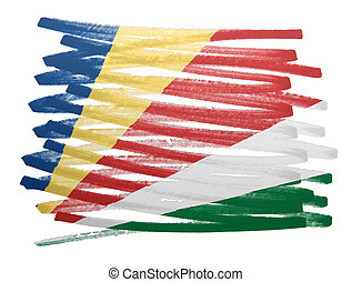 Flag illustration - Seychelles