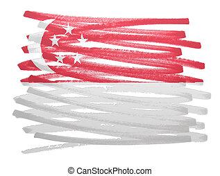 Flag illustration - Singapore