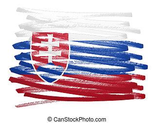Flag illustration - Slovakia