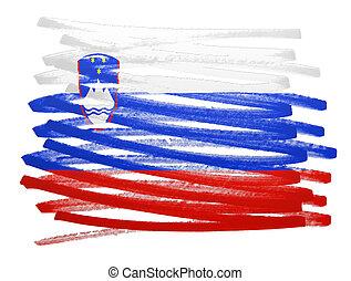 Flag illustration - Slovenia