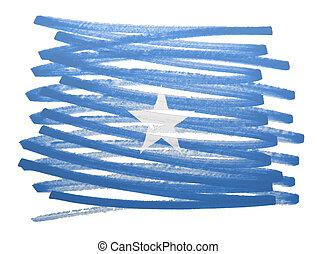 Flag illustration - Somalia