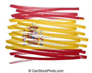 Flag illustration - Spain
