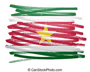 Flag illustration - Suriname